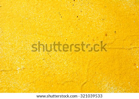 Background wall, colored yellow  paint