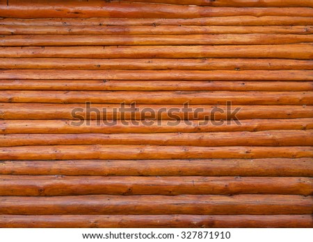 background wall of wooden cabin
