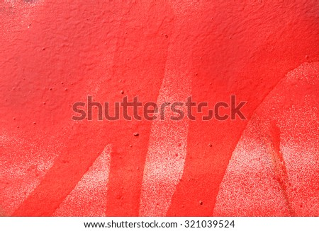 Background wall, painted red pink paint - stock photo