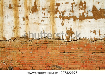 Background Wall Texture of an old section wall - stock photo