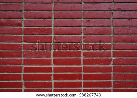 background wall with red bricks