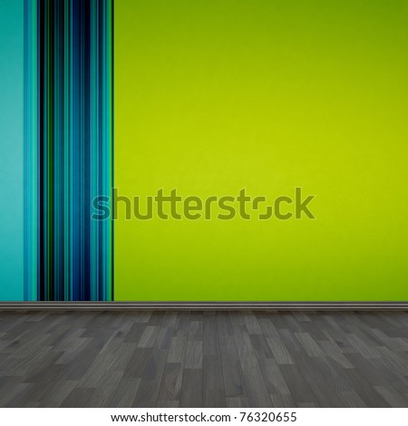 background wallpaper and wooden floor