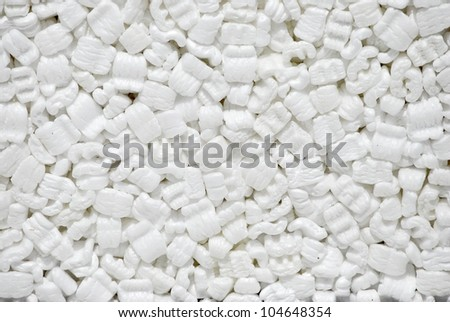 Background, white styrofoam pellets