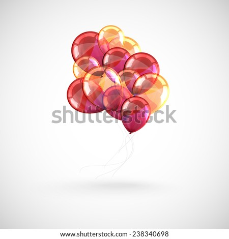 background with a bunch of multicolored balloons  - stock photo