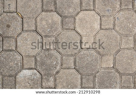 Background with a pattern and texture of cobble stones - stock photo