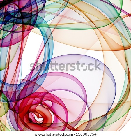 background with abstract waves - stock photo