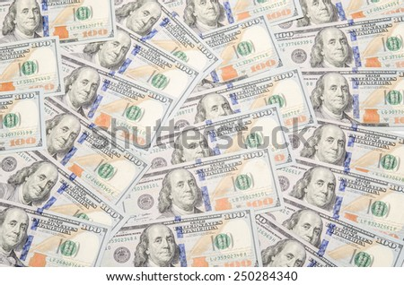 Background with american money of one hundred-dollar bill ($100) / photography of the United States dollar (U.S. dollar, American dollar, US Dollar) - the official currency of the United States  - stock photo