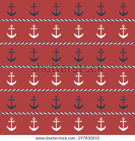 background with anchors. Raster version - stock photo