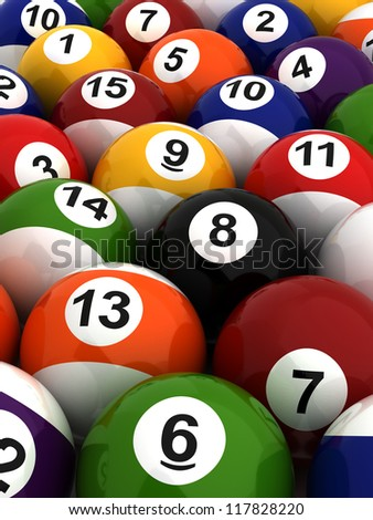 Background with Billiard Balls (Computer generated image)