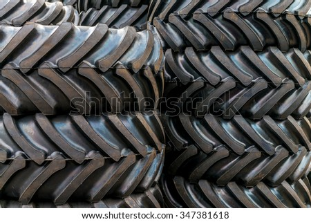 Background with black tire for trucks