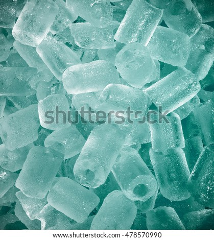 background with blue ice cubes