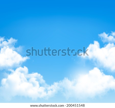Background with blue sky and clouds.  - stock photo