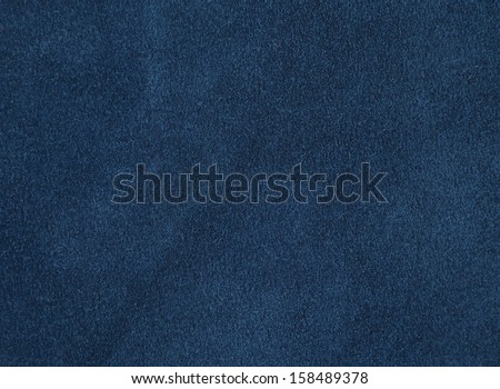 Background with blue suede, close up - stock photo