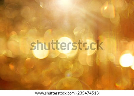 background with blur golden lights