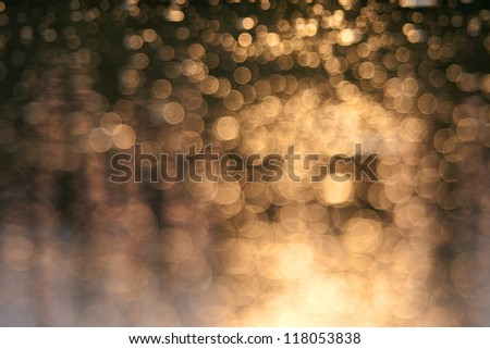 Background with bokeh defocused lights - stock photo