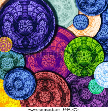 background with bright circles - stock photo