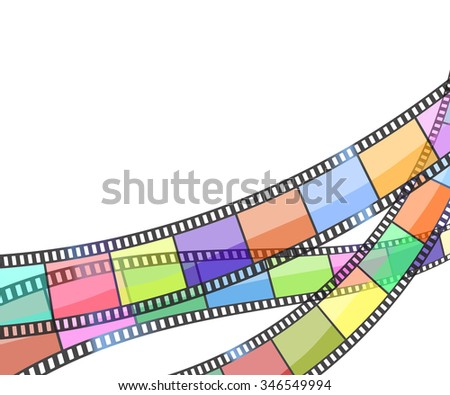 background with color filmstrip. JPG version - stock photo