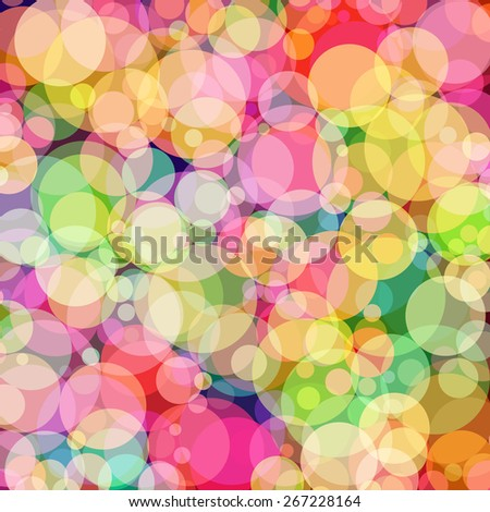 Background with colored circles. Raster 6  - stock photo