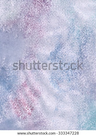 background with colored spots, pink and blue watercolor background - stock photo