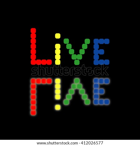 Background with colored squares. Rainbow. Live.