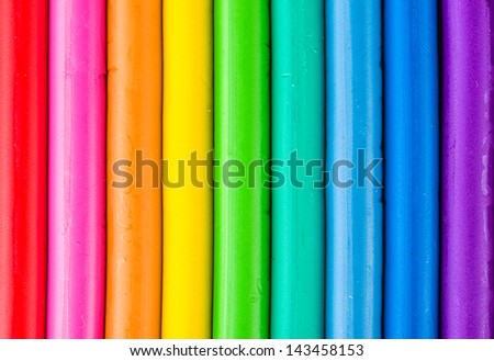 Background with colorful modeling clay