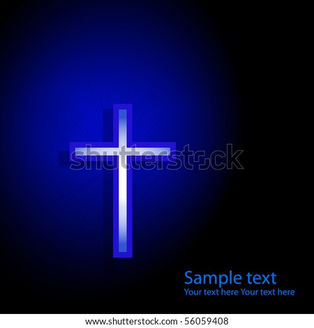 Background with cross. - stock photo