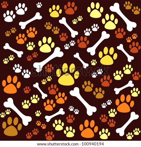 background with dog paw print animal print dog icons schnauzer