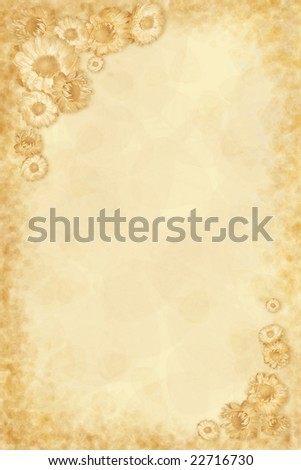 Background with dried flowers