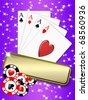 background with elements of gambling. free space for personalization - stock photo