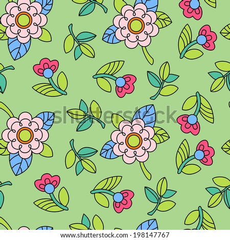 Background with flower for your design
