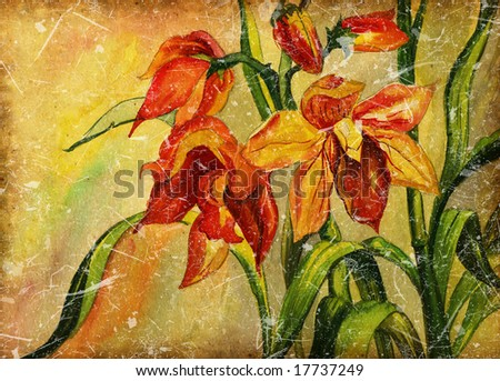 background with flowers - stock photo