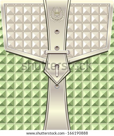 Background with geometric  pattern and belt fastener
