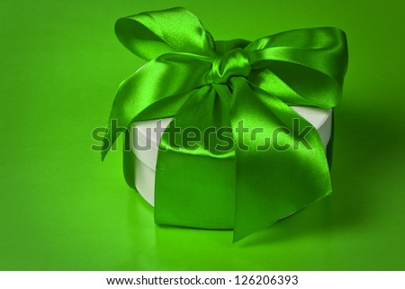 background with gift box, space for text