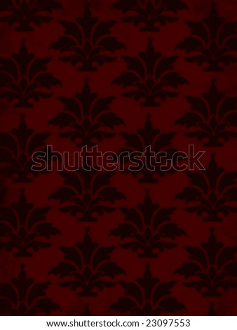 Background with graphic ornaments in dark red - stock photo
