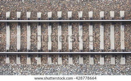 Background with gravel and railroad line - stock photo