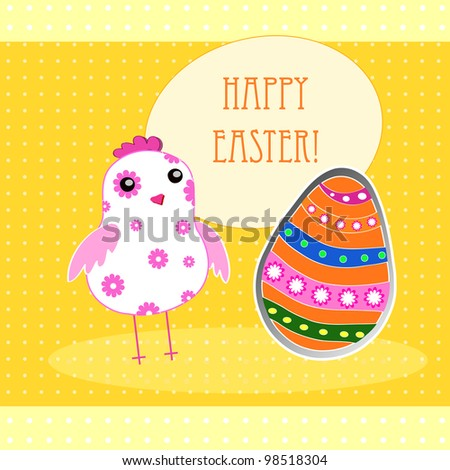 background with holiday Easter chicken