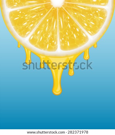 Background with lemon slice