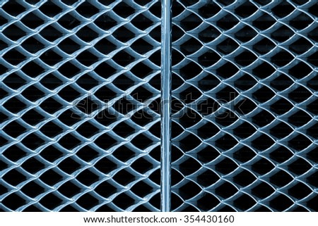 Background with Metal Grille of Car / Grunge metal abstract background - Detail of grille of a car - stock photo