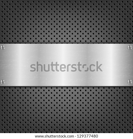 Background With Metal Plate - stock photo