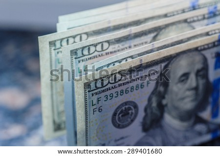 Background with money american hundred dollar bills. - stock photo