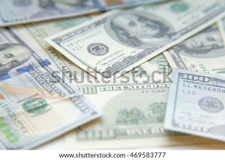 Background with money american hundred dollar bills, macro