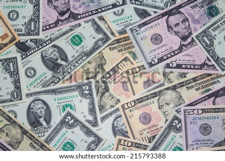 Background with money american USA dollars bills