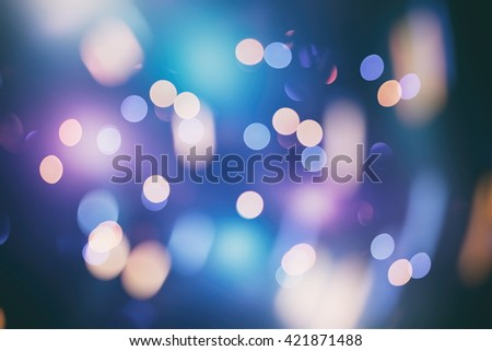 Background With Natural Bokeh And Bright Golden Lights. Vintage Magic Background With Color - stock photo