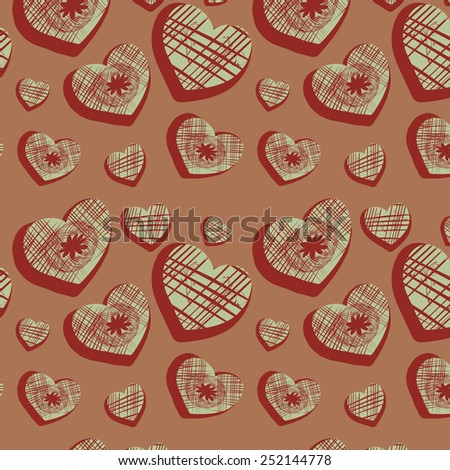 Background with original hearts, illustration
