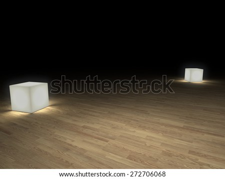background with parquet flooring