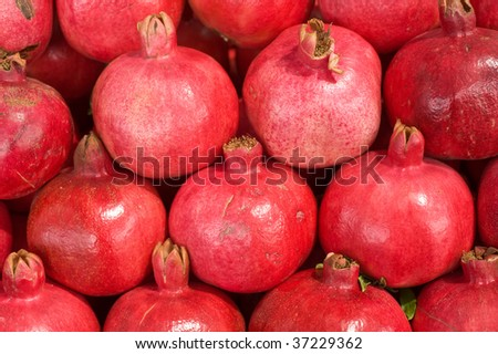 background with pomegranates
