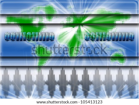 Background with 2012 presented to a binary code