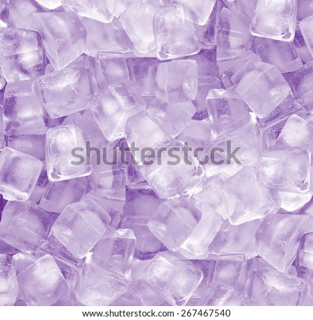 background with purple ice cubes - stock photo