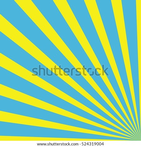 Background with rays - Light Blue Yellow