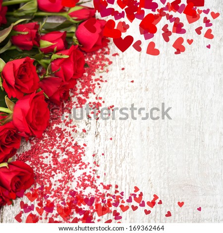 Background with Roses  - stock photo